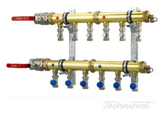 Rozdzielacze 2'' modułowe do dolnego źródła pomp ciepła, instalacji CO lub innych systemów grzewczych - z zaworami regulacyjnymi