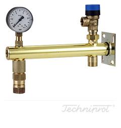 Zespoły zabezpieczenia naczyń wzbiorczych Do instalacji wody użytkowej - konsola mosiężna